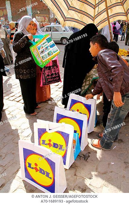 Street market , luxor , egyptian