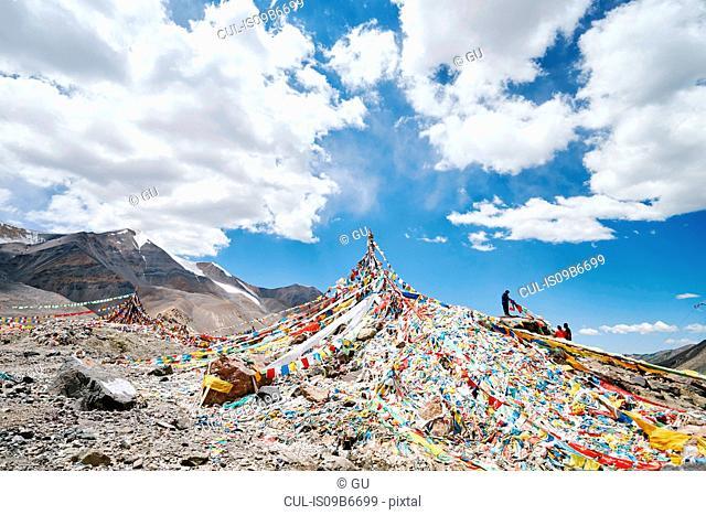 Prayer flags, Zheduo Mountain, Kangding, Sichuan, China