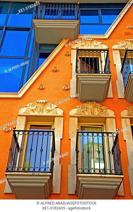 balconies, residential building, Sant Cugat del Valles, Catalonia, Spain