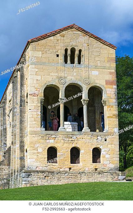 The church of St Mary at Mount Naranco, Oviedo, Asturias, Spain, Europe