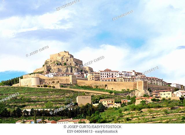 view of Morella, Castellon province,Spain