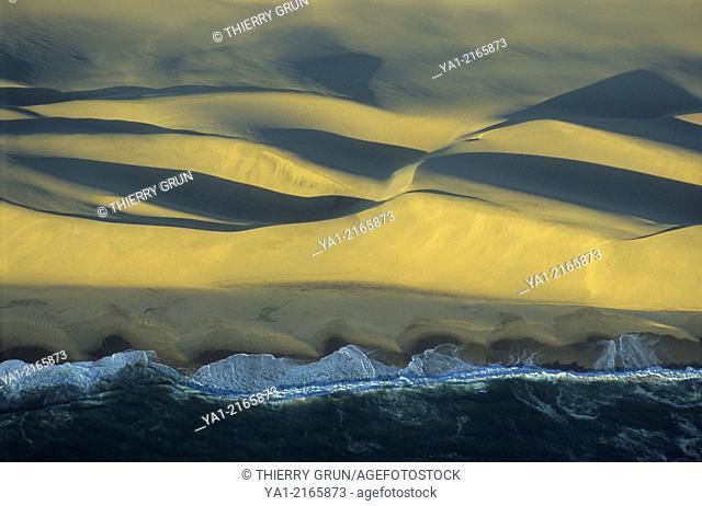 Aerial view of Namib-Naukluft National Park coast ,Namibia, Africa