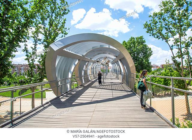 Bridge by Perrault. Madrid Rio, Madrid, Spain