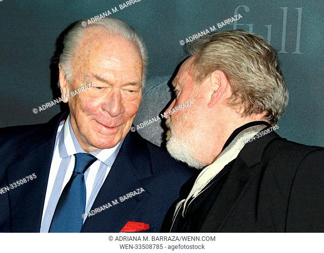 Los Angeles premiere of 'All The Money In The World' held at Academy's Samuel Goldwyn Theatre Featuring: Christopher Plummer