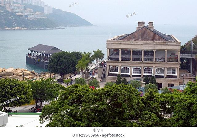 Old Murray building and Blake Pier, Stanley, Hong Kong