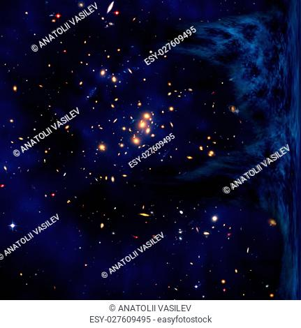 """Small part of an infinite star field of space in the Universe. """"""""Elements of this image furnished by NASA"""""""""""