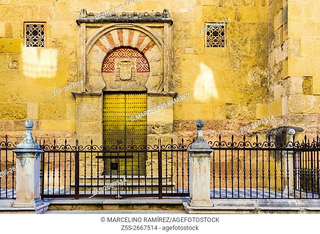 San Miguel gate. Mosque-Cathedral of Córdoba, Andalusia, Spain, Europe