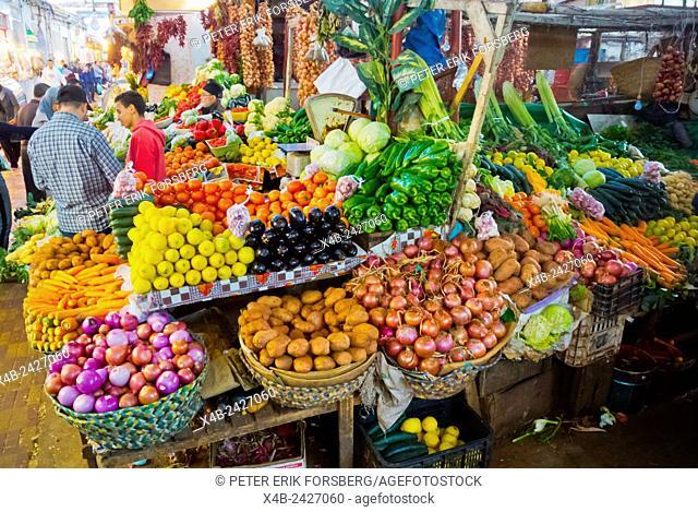 Mercado Central, Souq, main market, Medina, Tangier, Morocco, northern Africa