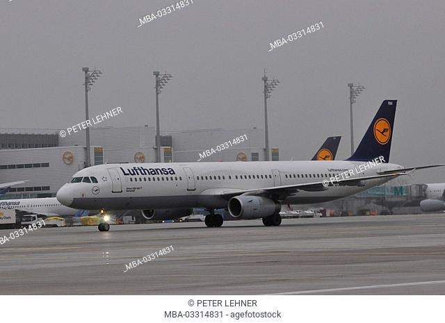 Civil aviation, air liner, airport, rolling railway