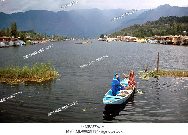 Srinagar, shikara on Dal lake Kashmir, India, Asia