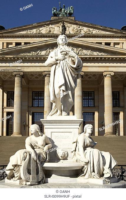 Statue outside Gendarmenmarkt, Berlin, Germany