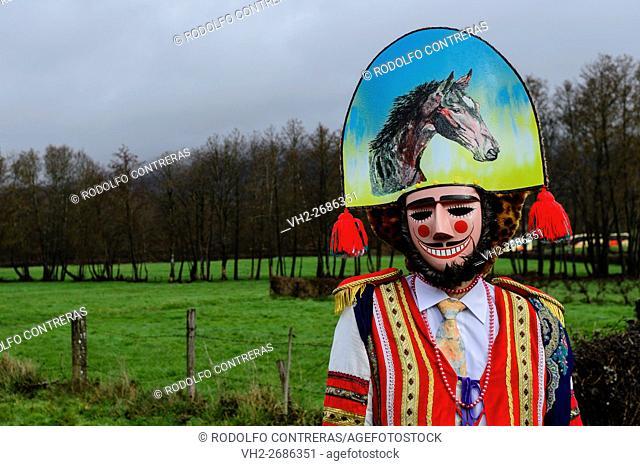 Carnival around Maceda villages in Orense (Galicia/Spain)