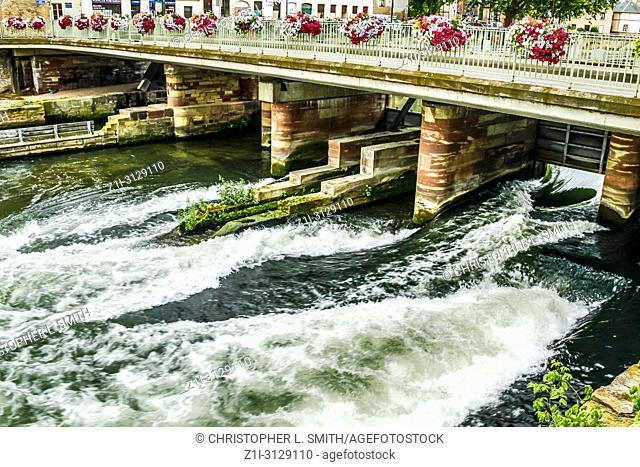 Rue Sainte-Marguerite bridge over the River Ille in Strasbourg France