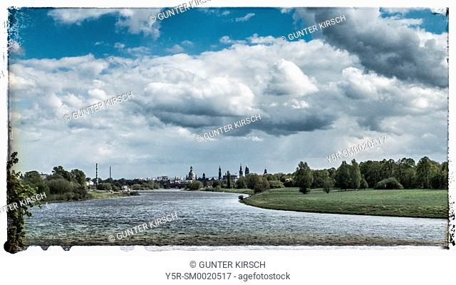 Elbe River in Dresden, Saxony, Germany, Europe