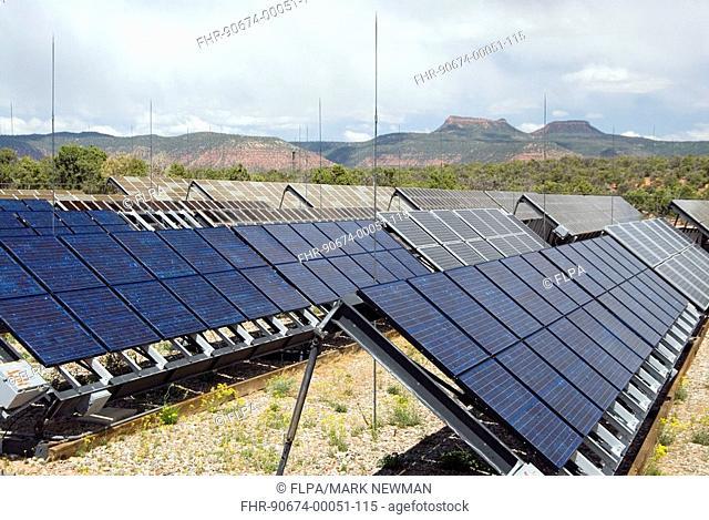 Solar power, photovoltaic solar cells, Natural Bridges N M , U S A