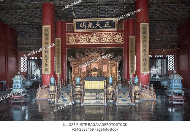 China, Beijin City, The Forbidden City, Emperor Throne