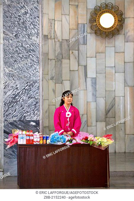 Flowers For Sell At Mangyongdae Schoolchildren's Palace, Pyongyang, North Korea