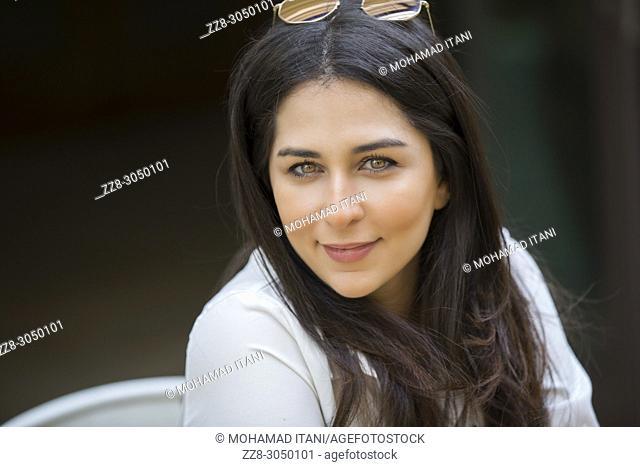 Beautiful Arab woman smiling