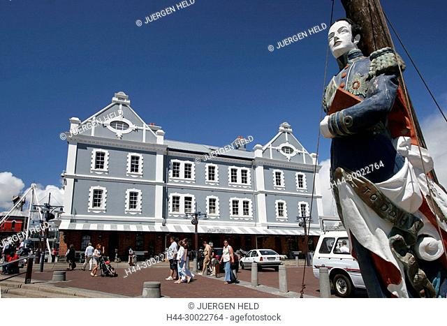 south africa cape town, Victoria & Albert waterfront, historical habour office building, captains figurhead