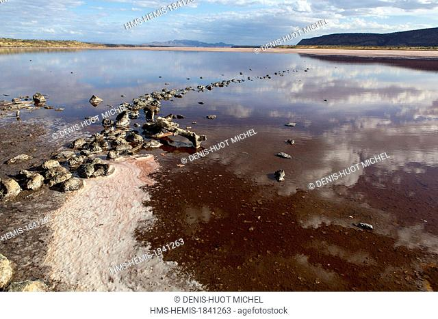 Kenya, lake Magadi, soda