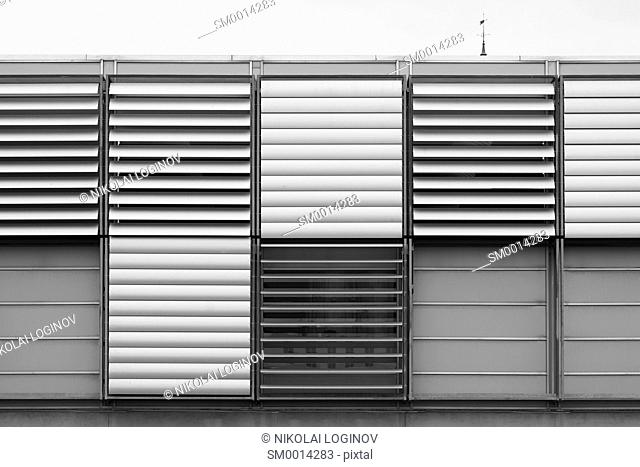 Black and white air ventilation system background hd