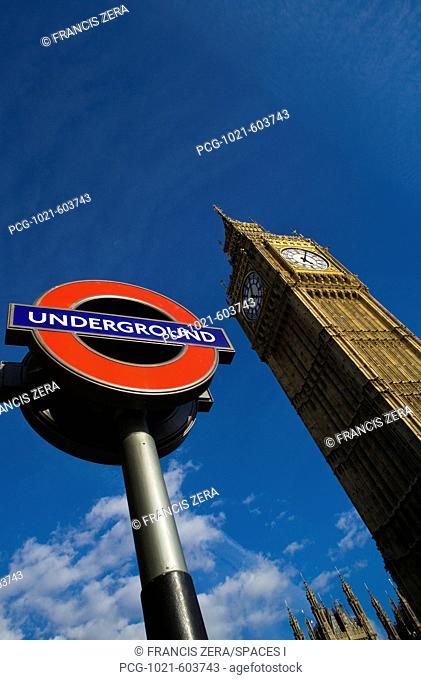 Subway Sign and Big Ben