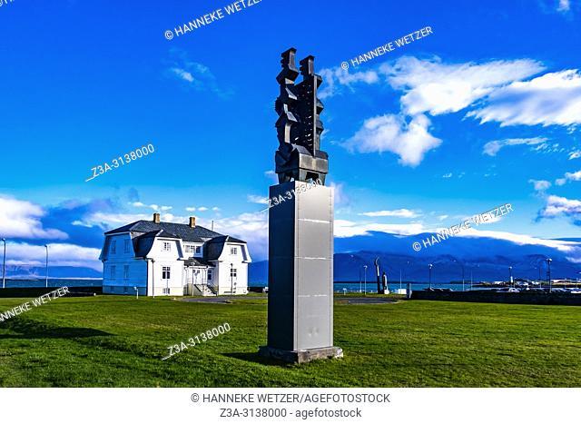 Statue near the Hofdi House in Reykjavic, Iceland