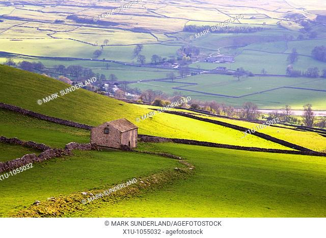 Barn above Conistone in Wharfedale Yorkshire England