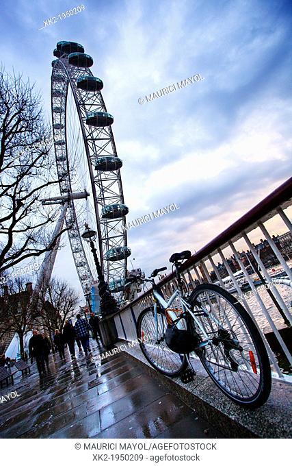 Visit London Eye by Bike, London, UK