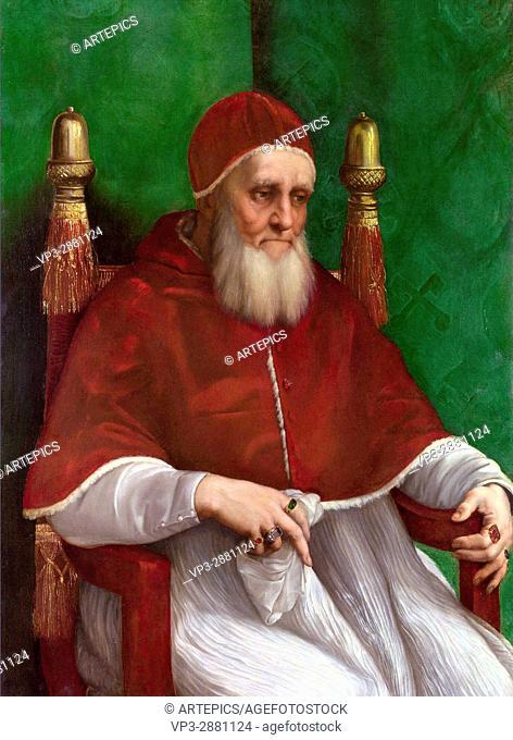 Raffaello Santi - Raphael. Pope Julius II. 1511. National Gallery - London