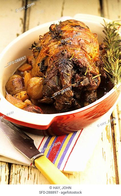Shoulder of lamb with rosemary