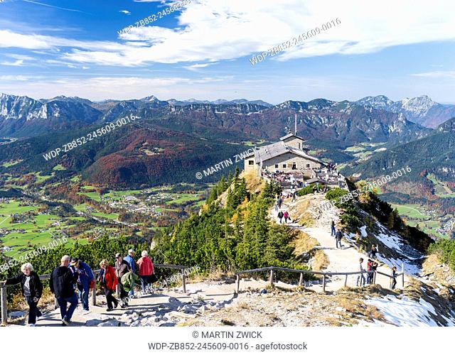 Kehlsteinhaus (Eagels Nest), the Diplomatic Reception House of Adolf Hitler above Obersalzberg.Europe, Central Europe, Germany, Bavaria, October
