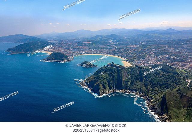 Aerial view. Donostia. San Sebastian. Gipuzkoa. Basque Country. Spain
