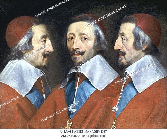 Philippe de Champaigne 1602-1674: Triple portrait of Cardinal Richelieu  c1642  National Gallery, London  Armand Jean Duplessis Duc de Richelieu 1585-1642...