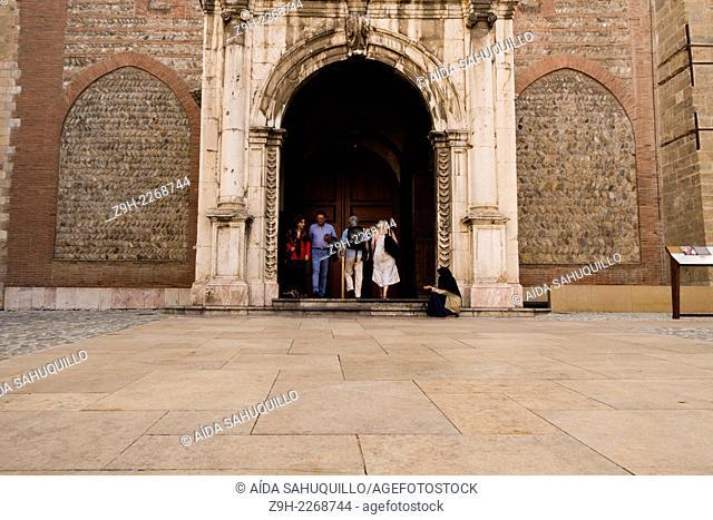 Entrance Saint-Jean-Baptiste Church, Perpignan, France