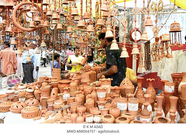 Bangladesh: Handicrafts items are being sold at Boishaki fair 2007