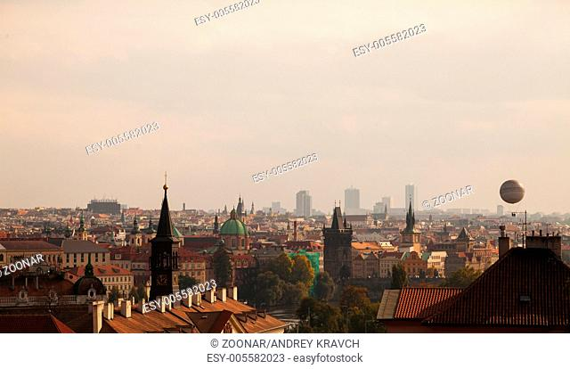 Overview of old Prague