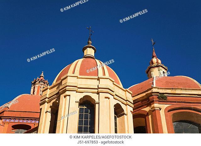 Multiple domes of San Diego church, UNESCO World Heritage Site  Guanajuato, Mexico