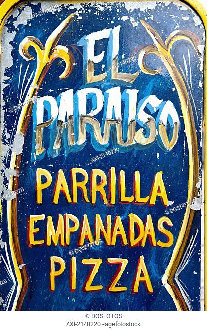 Sign In Caminito, La Boca, Buenos Aires, Argentina