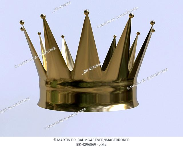 Golden crown with twelve points
