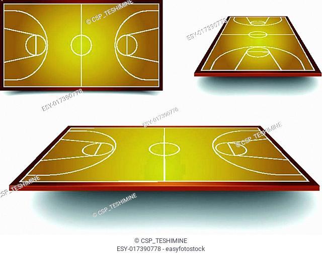 set basketball court