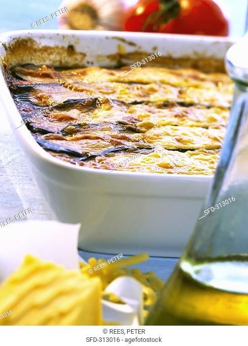 Aubergine gratin