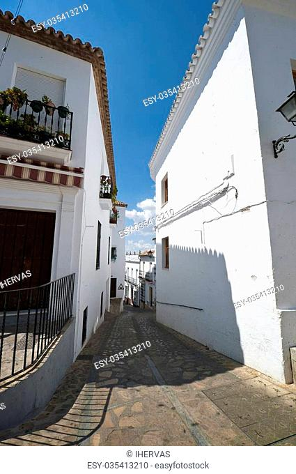 Traditional houses in Zahara de la Sierra, Cadiz. This village is part of white towns in southern Spain Andalusia region