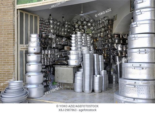 Iran, Meybod, traditional market