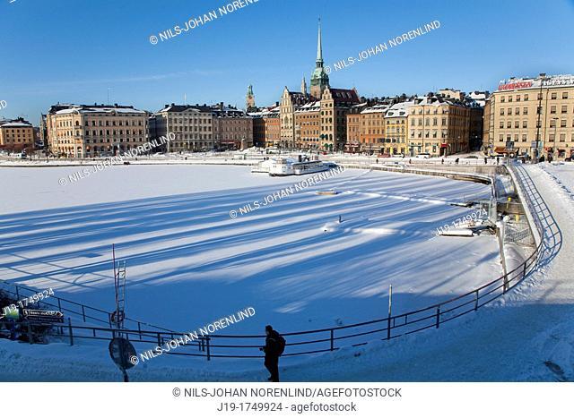 Winter Old Town,Stockholm Sweden
