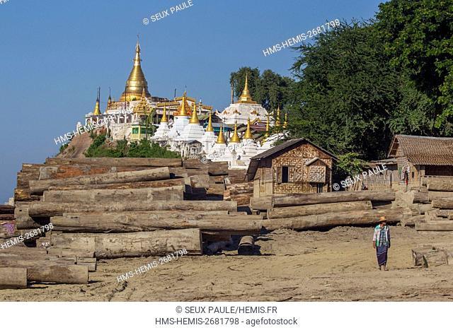 Myanmar (Burma), Mandalay district, Amarapura, teak at Shwe Kyet Kay pagoda