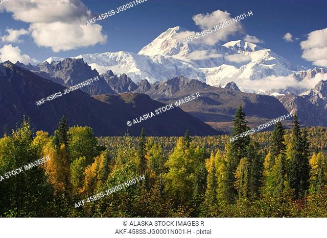 View of Mt. McKinley from the Parks Highway, Southcentral Alaska, Autumn