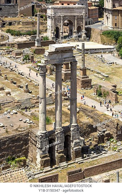 Temple of Castor & Pollux, Rome, Italy