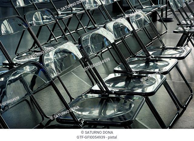 Transparent plastic chairs