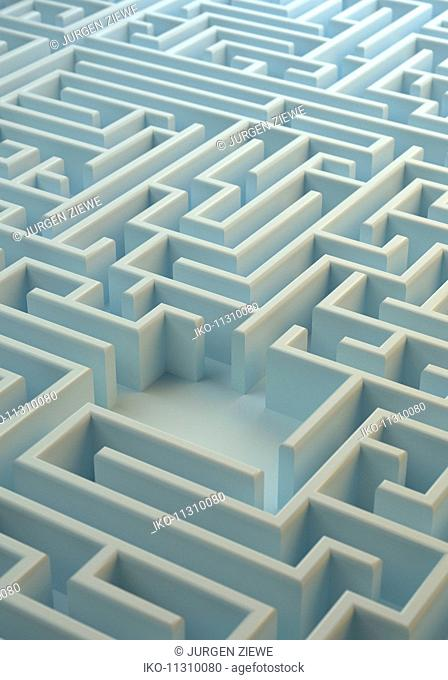 Center of labyrinth